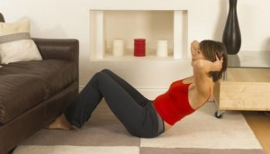 home workout sit-ups